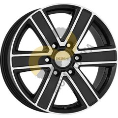 DEZENT TJ dark 8x16 6x139,7  ET35 Dia67.1 Black Polished