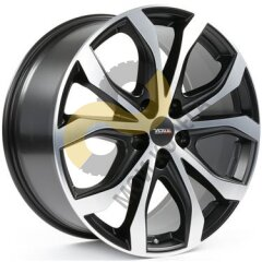 Alutec W10X 8.5x19 5x120  ET40 Dia74.1 Racing Black Front Polished